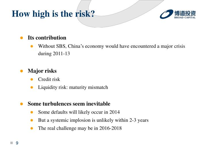 How high is the risk?