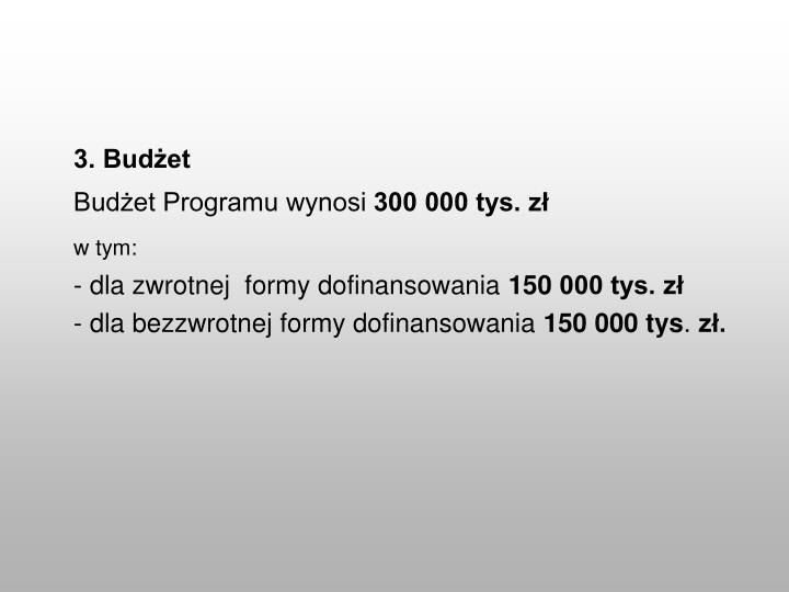 3. Budżet