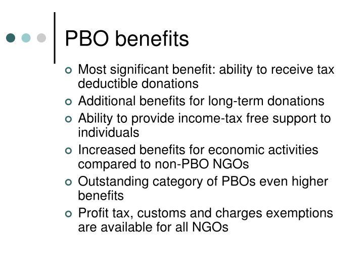PBO benefits