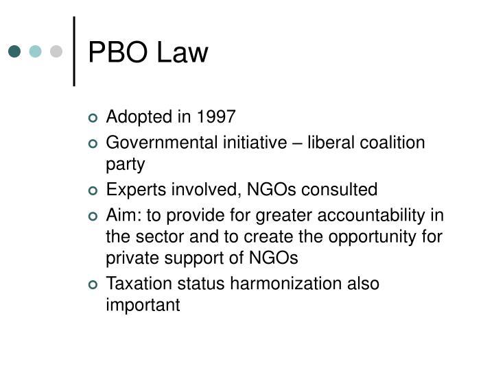 PBO Law