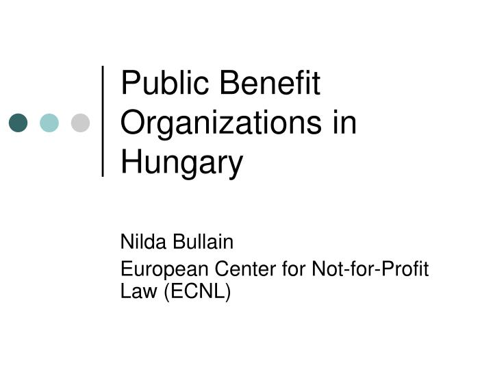 Public benefit organizations in hungary