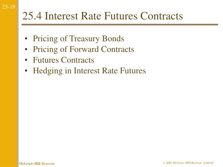 25.4 Interest Rate Futures Contracts