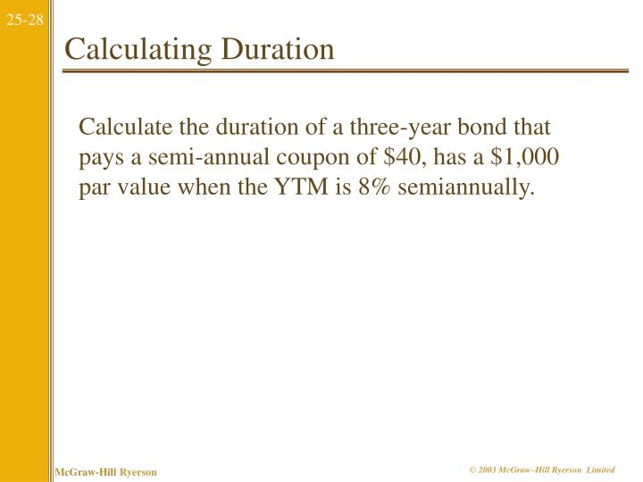 Calculating Duration