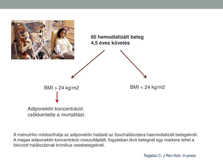 60 hemodializált beteg