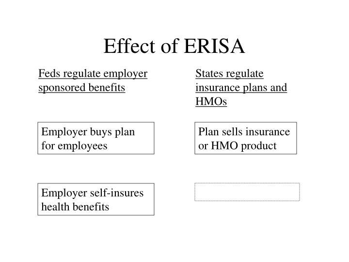 Effect of ERISA
