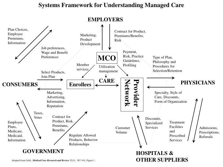 Systems Framework for Understanding Managed Care