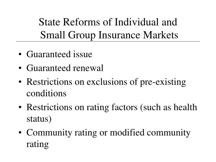 State Reforms of Individual and