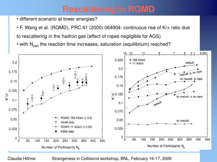 Rescattering in RQMD