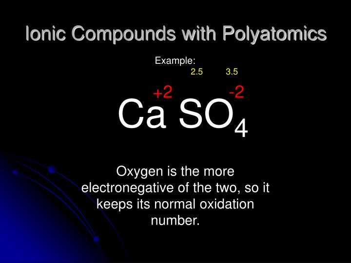Ionic Compounds with Polyatomics