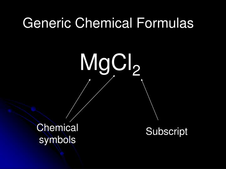Generic Chemical Formulas