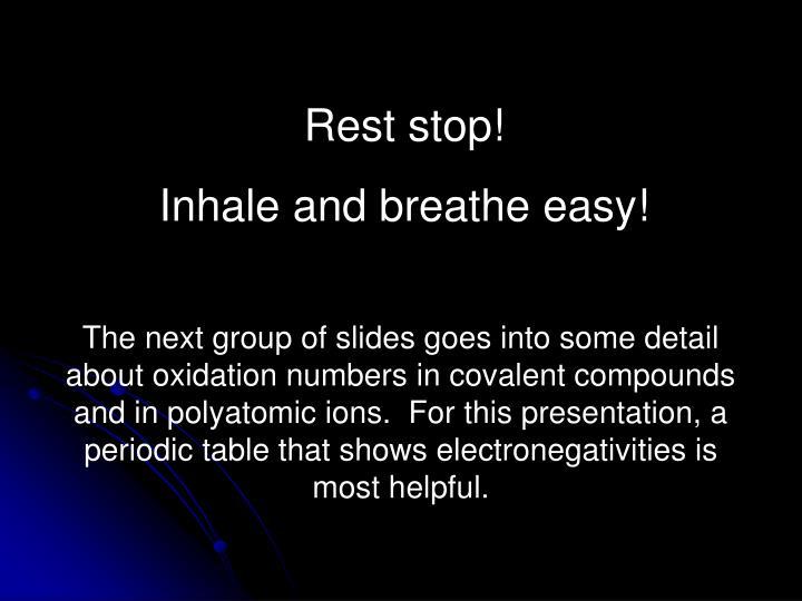 Rest stop!