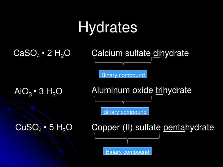 Hydrates