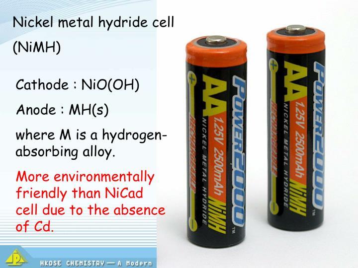 Nickel metal hydride cell