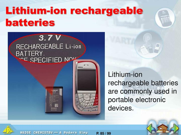 Lithium-ion rechargeable batteries
