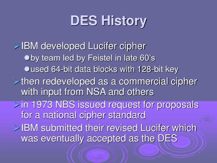 DES History