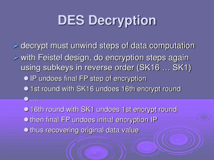 DES Decryption
