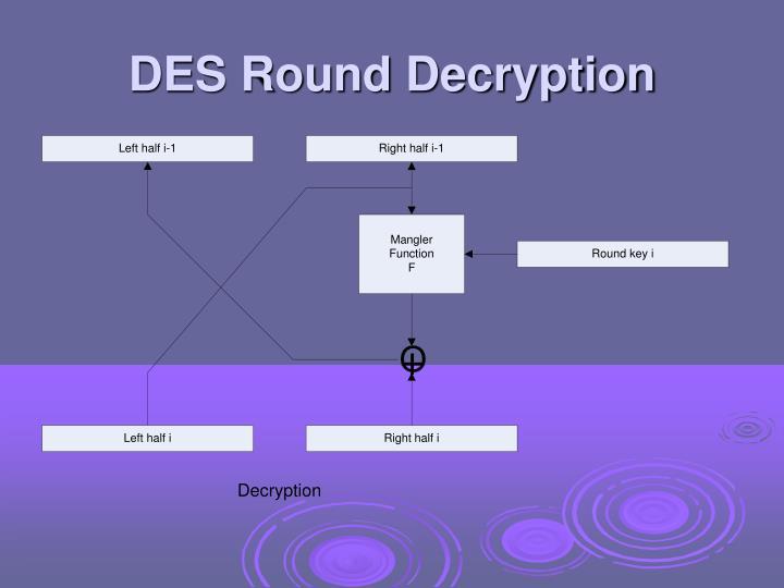 DES Round Decryption