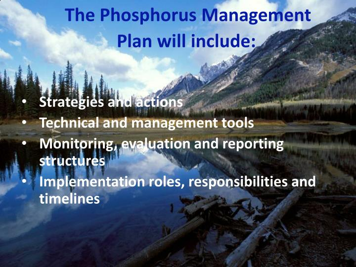 The Phosphorus Management