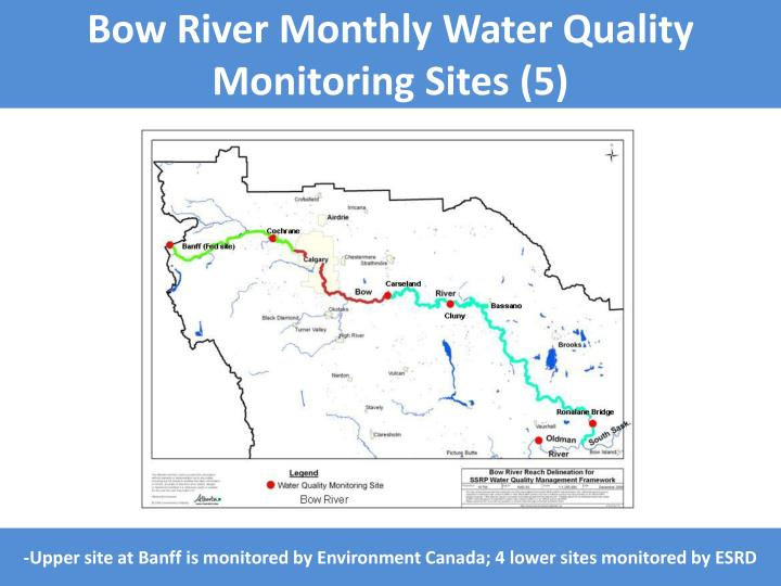 Bow River Monthly Water Quality Monitoring Sites (5)