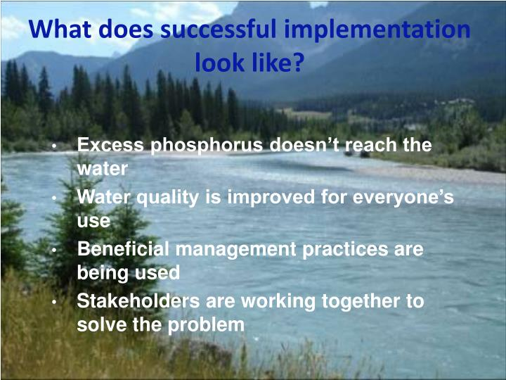 What does successful implementation look like?