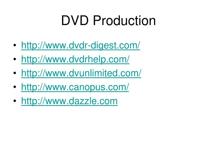 DVD Production
