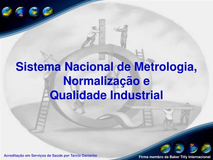 Sistema Nacional de Metrologia, Normalização e
