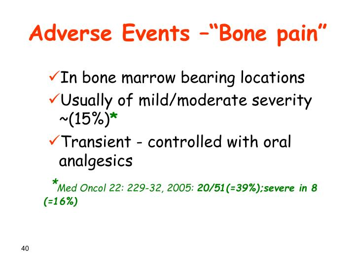 "Adverse Events –""Bone pain"""