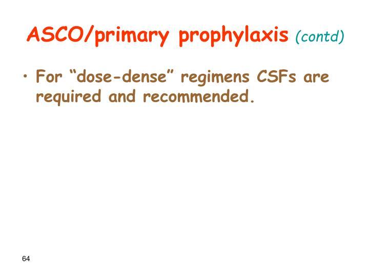 ASCO/primary prophylaxis