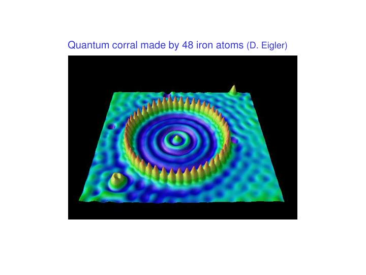 Quantum corral made by 48 iron atoms