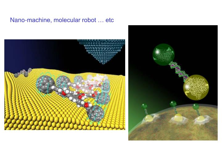 Nano-machine, molecular robot … etc