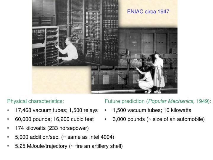 ENIAC circa 1947