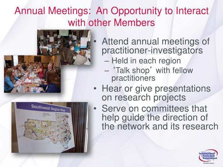 Annual Meetings:  An Opportunity to Interact with other