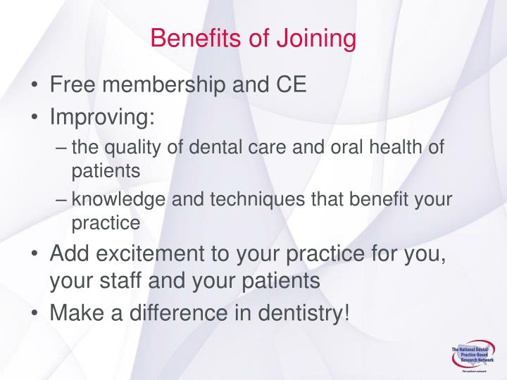 Benefits of Joining