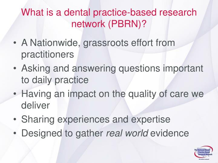 What is a dental practice-based research network (PBRN)?