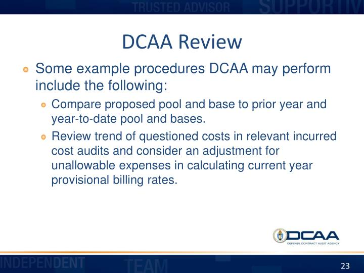 DCAA Review