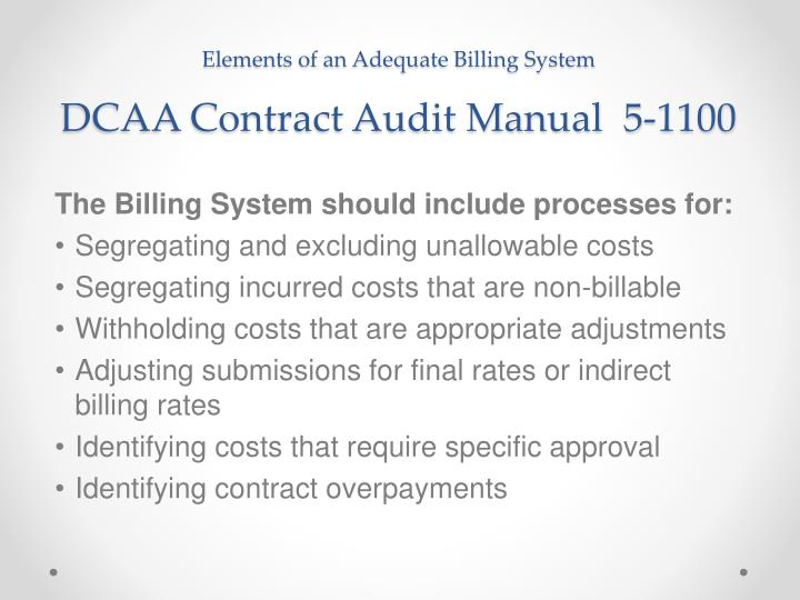 Elements of an Adequate Billing System