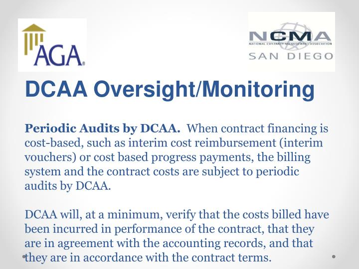 DCAA Oversight/Monitoring