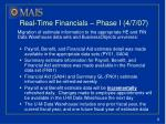 real time financials phase i 4 7 07