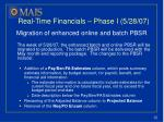 real time financials phase i 5 28 07