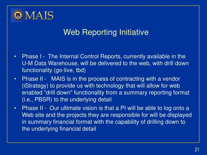Web Reporting Initiative