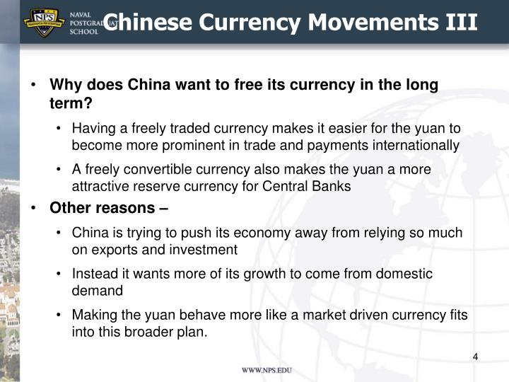 Chinese Currency Movements III
