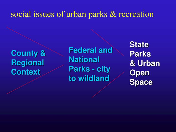 social issues of urban parks & recreation