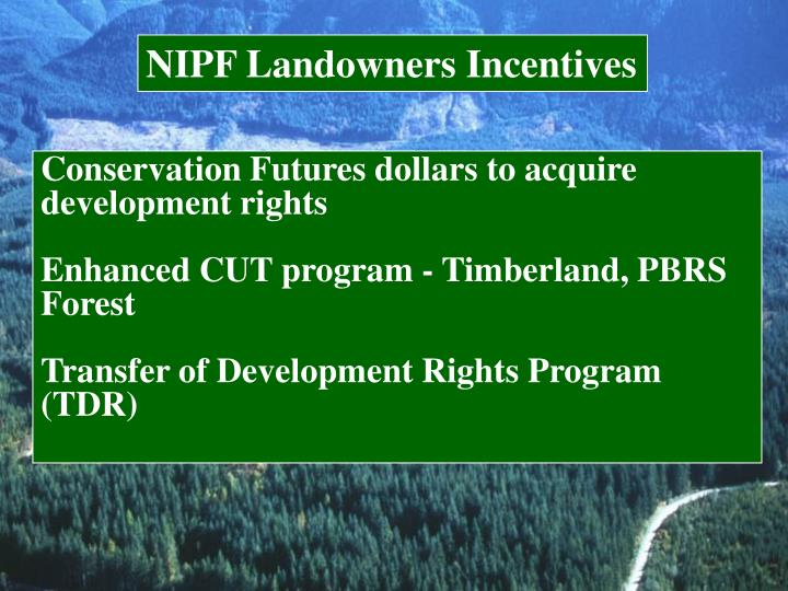 NIPF Landowners Incentives