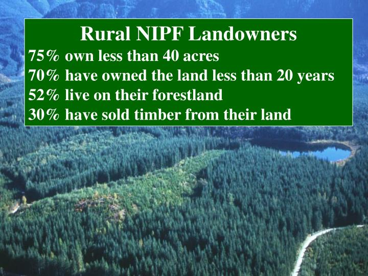 Rural NIPF Landowners
