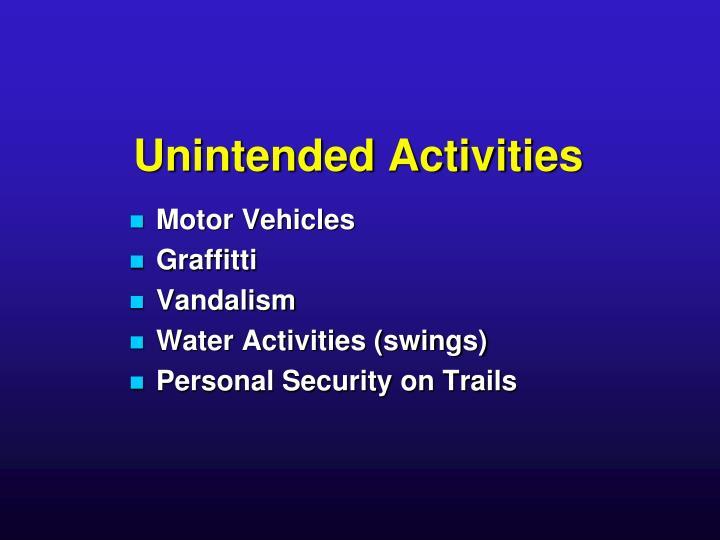 Unintended Activities