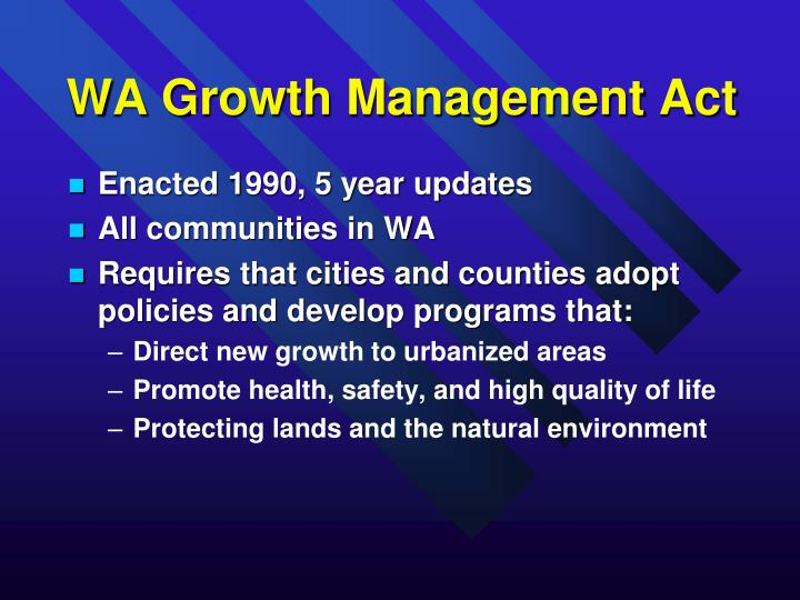WA Growth Management Act