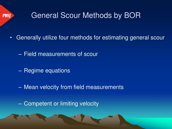 General Scour Methods by BOR