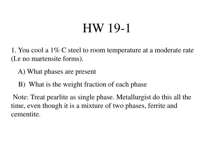HW 19-1