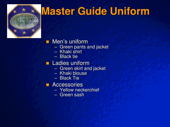 Master Guide Uniform