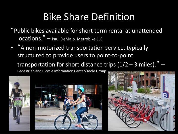 Bike Share Definition